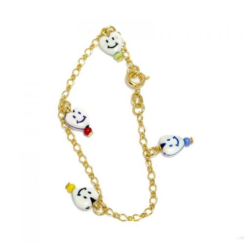 Hartjes Smiley Armband