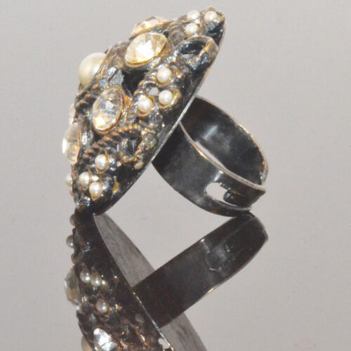 Strass Statement ring - side