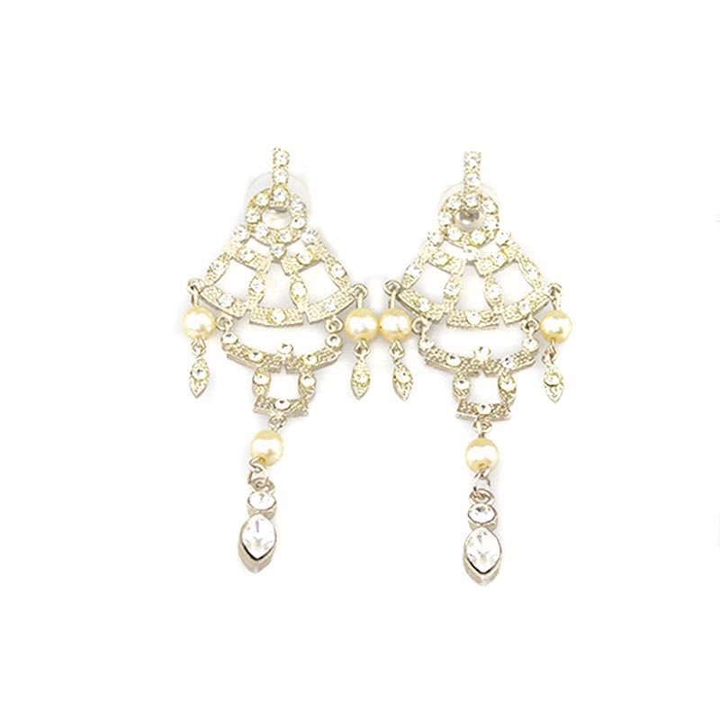 Moving Strass Earrings strass-earrings-with-faux-pearls