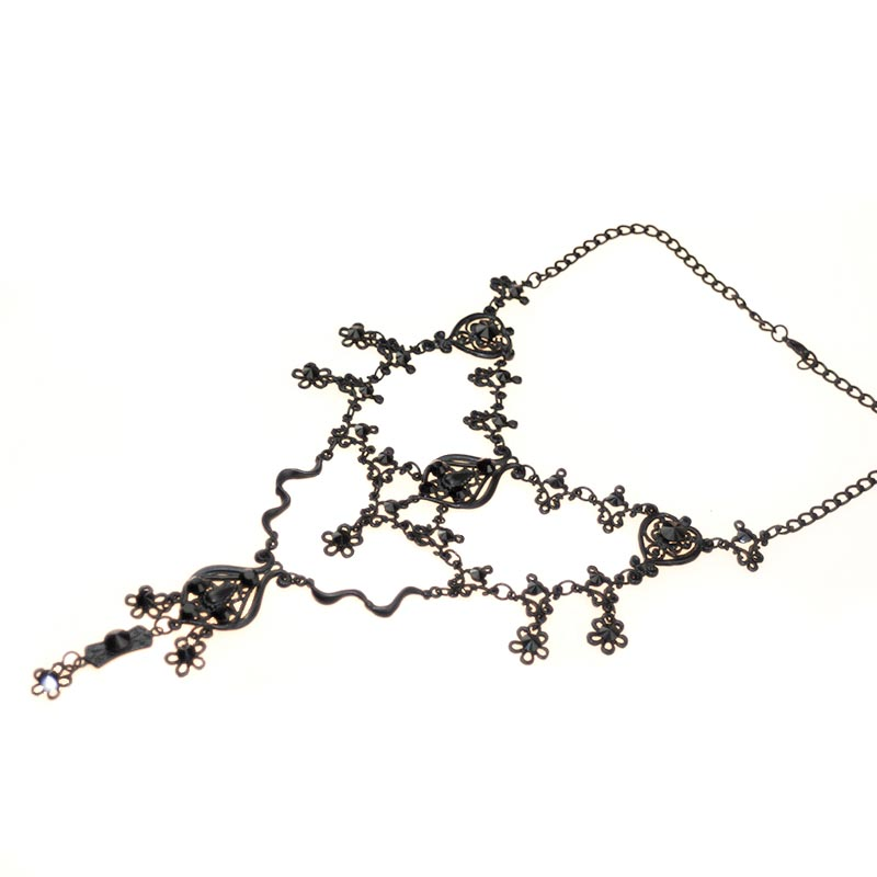 gothic necklace swarovski crystals