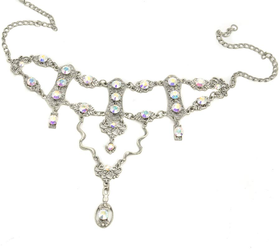 choker necklace set with swarovski crystals