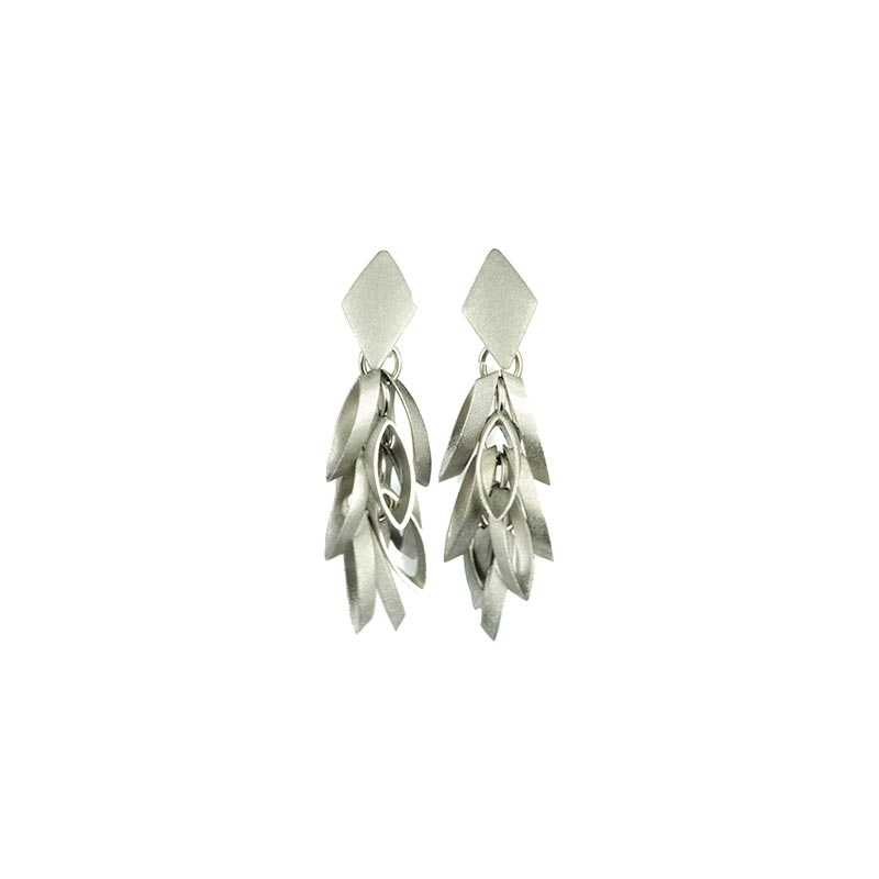 Silverplated Earrings Squares