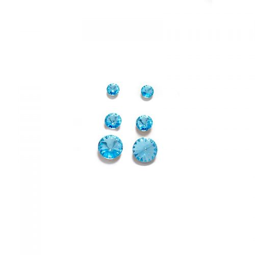 Triple Swarovski stud earrings