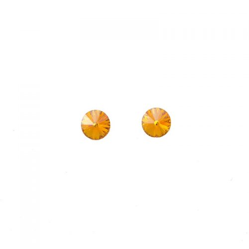 Orange Swarovski studs